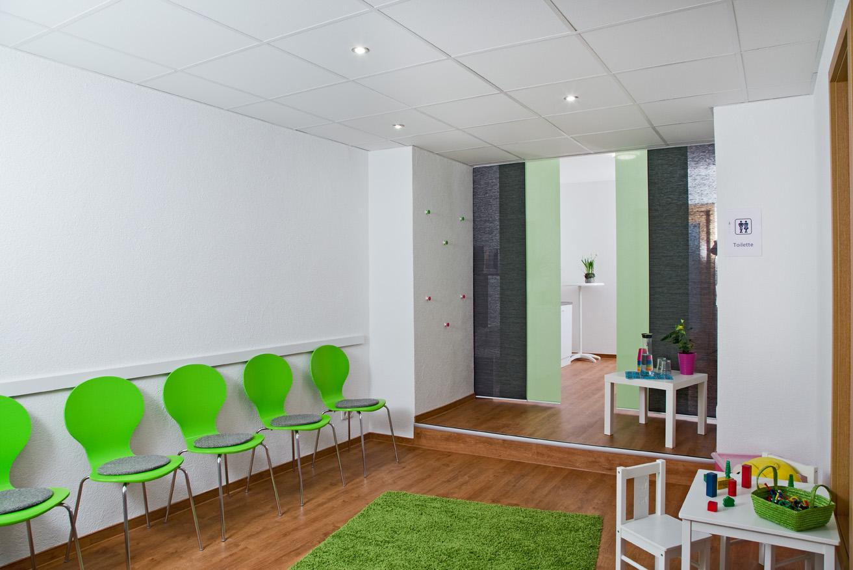 Wartezimmer im Zentrum für Logopädie in Ottweiler